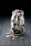 Full Money Coins Jar Stock Photos