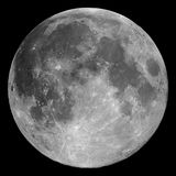 Full moon. The full Moon, photographed through a 0.2-metre telescope Stock Image