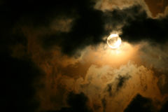 Full moon. Cloudscape. Night scene royalty free stock photos