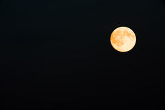Full Moon. On the black sky Royalty Free Stock Image