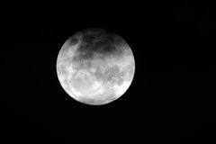 Full moon. View of the full moon with clouds over the African continent Royalty Free Stock Photos