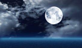 The full  moon Royalty Free Stock Photos