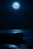Full moon. At the beach of Thirroulle, Australia Royalty Free Stock Image