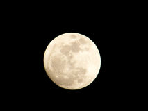Full Moon. That shoot with 1. 7X Tele-Convertor stock photo