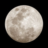 Full Moon. At night in black sky Stock Photo