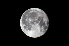 Full Moon. Against A Black Sky February 19, 2011 Royalty Free Stock Photos