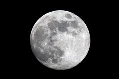 Full moon. Telescopic view of a full moon Stock Photography