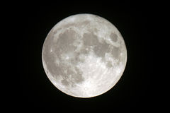 Full moon. Telescopic  view of a full moon Stock Photos