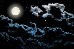 Full moon. At the beautiful night Stock Photo