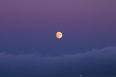 Full Moon. And fog over San Francisco Bay Royalty Free Stock Photo