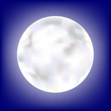 Full Moon. A glowing moon in a deep blue sky. The vector file uses a gradient mesh and is in AI-EPS8 format
