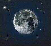 Full-moon. 3d rendering of the moon Stock Photo