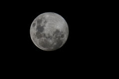 Full Moon. Photo of full bright moon with craters Royalty Free Stock Photo