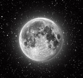 Full Moon. In High Resolution with stars in the background Royalty Free Stock Photos
