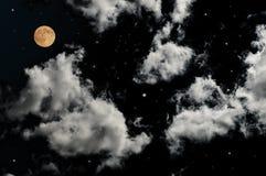 Full moon. On the beautiful night sky Royalty Free Stock Photography