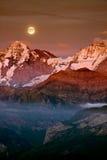 Full moon above alp V Stock Photos