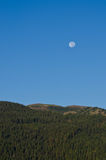 Full Moon Above the Mountains Royalty Free Stock Photos