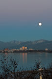 Full moon in Anchorage Stock Photos