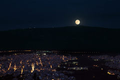 Full Moon in Athens Stock Photography