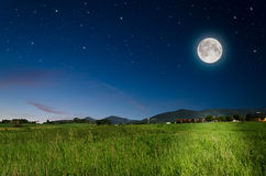 Full Moon Background Stock Photography
