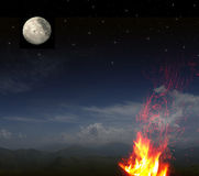 Full moon background ... Royalty Free Stock Images
