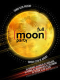 Full Moon Beach Party Flyer. Vector Design EPS 10 royalty free illustration