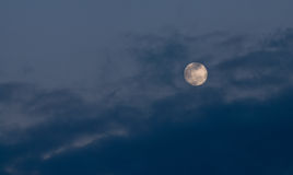 Full moon clouds and sky Royalty Free Stock Photos