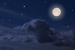 Full moon. The full moon on the beautiful night sky Stock Photography