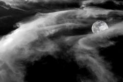 Full moon behind clouds. Royalty Free Stock Photography
