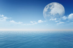 Moon in clouds Royalty Free Stock Photography