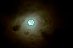 Full moon. Blended with colors of dream Stock Photos