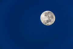 Full Moon Blue Sky Stock Photo