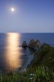 Full Moon on Cape Four Rocks Stock Image