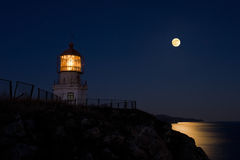 The Full Moon on Cape Rotary. Royalty Free Stock Photos