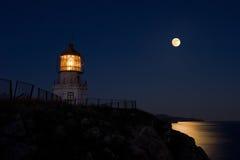 The Full Moon on Cape Rotary. Royalty Free Stock Photos