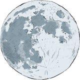 Full Moon. Cartoon illustration of the full moon Stock Image