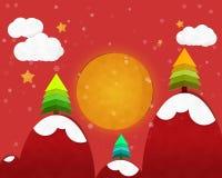 Full Moon in Christmas Night Royalty Free Stock Photos