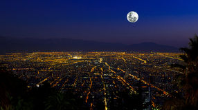 Full Moon City Stock Image