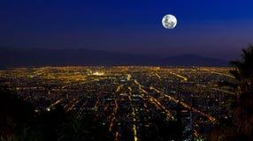 Full Moon City Stock Image