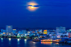 Full Moon On City Royalty Free Stock Photos