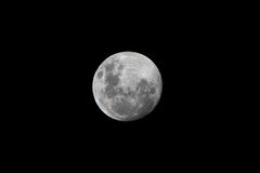 Full Moon Closeup. Showing details of the lunar surface Royalty Free Stock Image