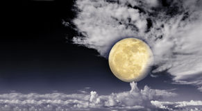 Full moon in the clouds. Stock Images