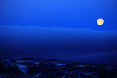 Full Moon Clouds Blue Night Sky Royalty Free Stock Images