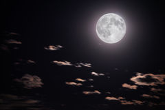 Full moon and clouds stock image