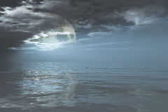 Full moon in clouds Royalty Free Stock Image