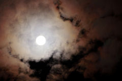 Full moon cloudy night Royalty Free Stock Photos