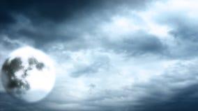 Full moon on cloudy sky Royalty Free Stock Photo