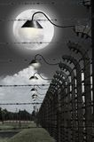 Full moon in the concentration camp of Auschwitz Royalty Free Stock Photos