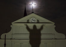 Full Moon Cross Stock Photos