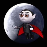 Full moon 3d Dracula Royalty Free Stock Image
